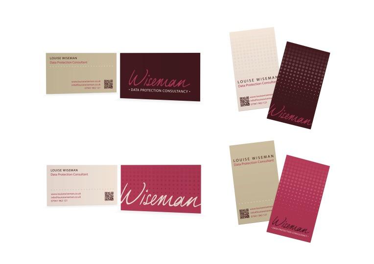Wiseman identity business card development